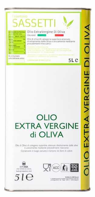 Olio Extravergine di Oliva Italiano Blend - Azienda agricola Sassetti